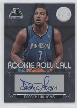 2012-13 Totally Certified Rookie Roll Call Silver [Autographed] #25 - Derrick Williams