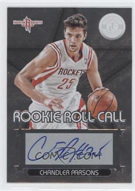 2012-13 Totally Certified Rookie Roll Call Silver [Autographed] #5 - Chandler Parsons