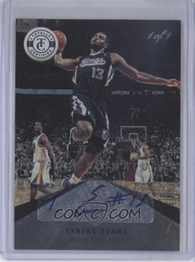 2012-13 Totally Certified Signatures Totally Black #14 - Tyreke Evans /1