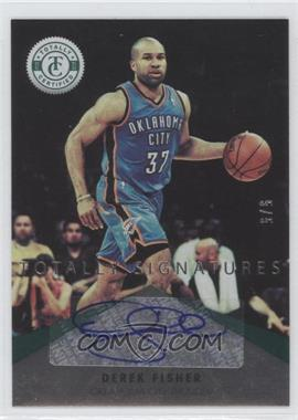 2012-13 Totally Certified Signatures Totally Green #64 - Derek Fisher /5