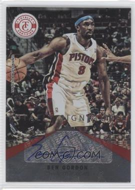 2012-13 Totally Certified Signatures Totally Red #19 - Ben Gordon /25