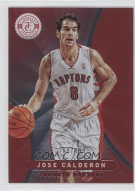 2012-13 Totally Certified Totally Red #37 - Jose Calderon /499