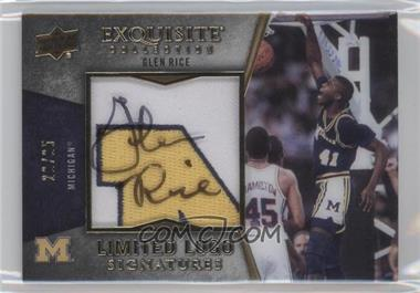 2012-13 Upper Deck Exquisite Collection - Limited Logo Signatures #LL-GR - Glen Rice /25
