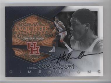 2012-13 Upper Deck Exquisite Collection Dimensions #D-OL - Hakeem Olajuwon /70