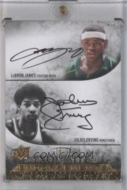 2012-13 Upper Deck Exquisite Collection Exquisite Endorsements Dual #EE2-LJ - Lebron James, Julius Erving /15