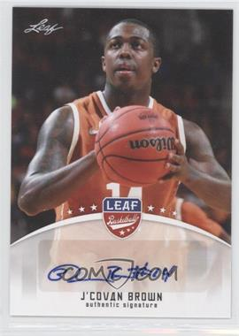 2012 Leaf - Base Autographs #BA-JCB - J'Covan Brown