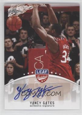2012 Leaf - Base Autographs #BA-YG1 - Yancy Gates