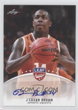 2012 Leaf Base Autographs #BA-JCB - J'Covan Brown