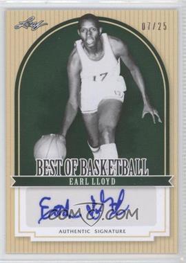 2012 Leaf Best of Basketball - [Base] - Green #EL1 - Earl Lloyd