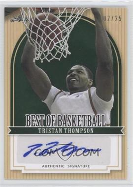 2012 Leaf Best of Basketball - [Base] - Green #TT1 - Tristan Thompson /25