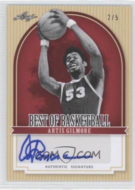 2012 Leaf Best of Basketball - [Base] - Red #AG1 - Artis Gilmore /5