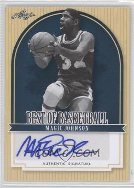 2012 Leaf Best of Basketball - [Base] #MJ1 - Magic Johnson