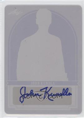 2012 Leaf Best of Basketball Green Parallel Printing Plate Magenta #JK1 - John Kuester /1