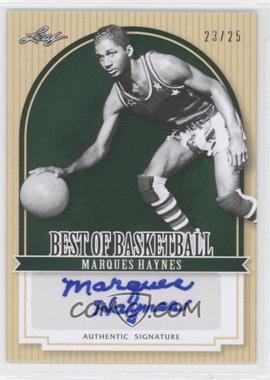 2012 Leaf Best of Basketball Green #MG1 - Marques Haynes /25