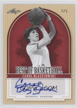 2012 Leaf Best of Basketball Red #CB1 - Carol Blazejowski /5