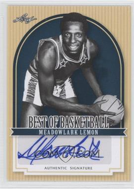 2012 Leaf Best of Basketball #ML1 - Meadowlark Lemon