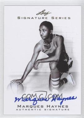 2012 Leaf Signature Series - [Base] #BA-MH1 - Marques Haynes