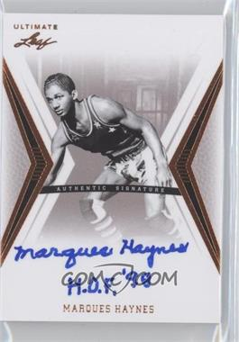 2012 Leaf Ultimate - Base Autographs #BA-MH1 - Marques Haynes