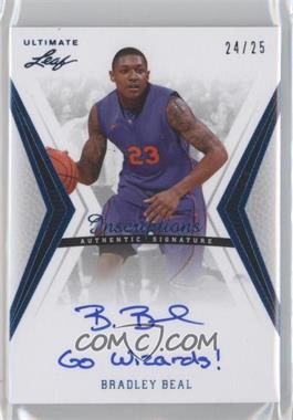 2012 Leaf Ultimate Base Autographs Inscriptions Blue #BA-BB1 - Bradley Beal /25