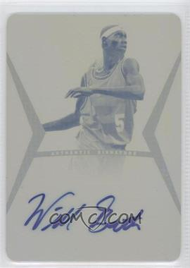 2012 Leaf Ultimate Base Autographs Printing Plate Yellow #BA-WB1 - Will Barton /1