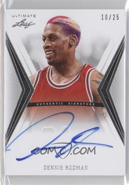 2012 Leaf Ultimate Base Autographs Silver #BA-DR1 - Dennis Rodman /25