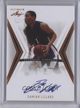 2012 Leaf Ultimate Base Autographs #BA-DL1 - Damian Lillard