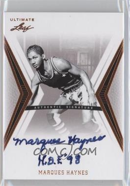 2012 Leaf Ultimate Base Autographs #BA-MH1 - Manny Harris