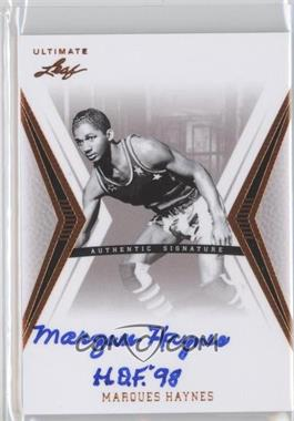 2012 Leaf Ultimate Base Autographs #BA-MH1 - Marques Haynes