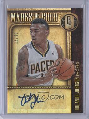 2013-14 Panini Gold Standard Marks of Gold Autographs #6 - Orlando Johnson /99