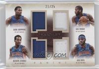 Andre Drummond, Brandon Jennings, Greg Monroe, Josh Smith /25