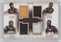 David West, Lance Stephenson, Paul George, Roy Hibbert /25