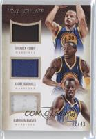 Andre Iguodala, Harrison Barnes, Stephen Curry /49