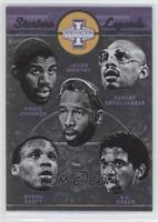 A.C. Green, Byron Scott, James Worthy, Kareem Abdul-Jabbar, Magic Johnson
