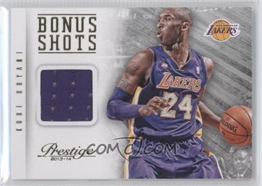 2013-14 Panini Prestige Bonus Shots Materials #50 - Kobe Bryant