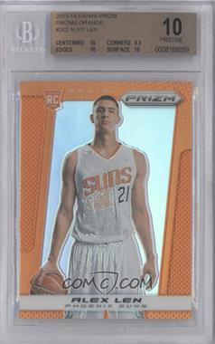 2013-14 Panini Prizm - [Base] - Orange Prizms #262 - Alex Len /60 [BGS 10]