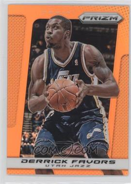 2013-14 Panini Prizm Orange Prizms #79 - Derrick Favors /60