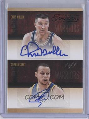 2013-14 Panini Timeless Treasures Dual Player Signatures Black #DS-9 - Stephen Curry, Chris Mullin /1