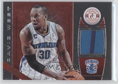 2013-14 Totally Certified - Memorabilia - Totally Red #152 - David West /199