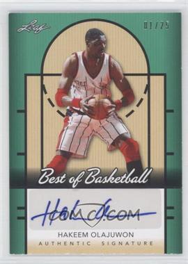 2013 Best of Basketball Green #1 - Hakeem Olajuwon /25