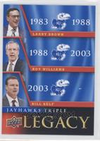 Bill Self, Larry Brown, Roy Williams