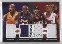 Allen Iverson, Kobe Bryant, Dikembe Mutombo, Shaquille O'Neal /99