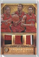 DeMar DeRozan, Kyle Lowry, Terrence Ross /25