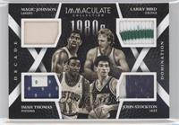Larry Bird, Isiah Thomas, John Stockton, Magic Johnson /13