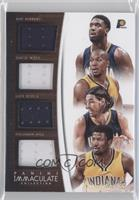 Solomon Hill, David West, Luis Scola, Roy Hibbert /35