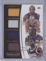 Magic Johnson, Shaquille O'Neal, Kareem Abdul-Jabbar, Kobe Bryant /25