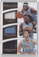 Kenneth Faried, Danilo Gallinari, Ty Lawson /75