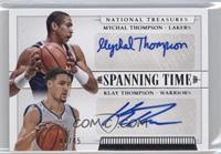 Klay Thompson, Mychal Thompson /45