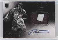 Black and White Autographed Patch Rookies - James Ennis /99