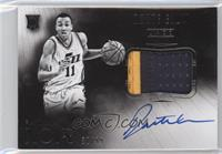 Black and White Autographed Patch Rookies - Dante Exum /99