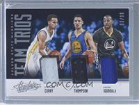 Andre Iguodala, Stephen Curry, Klay Thompson /99